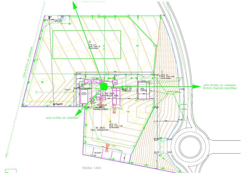 plano de ingenería civil de saergy